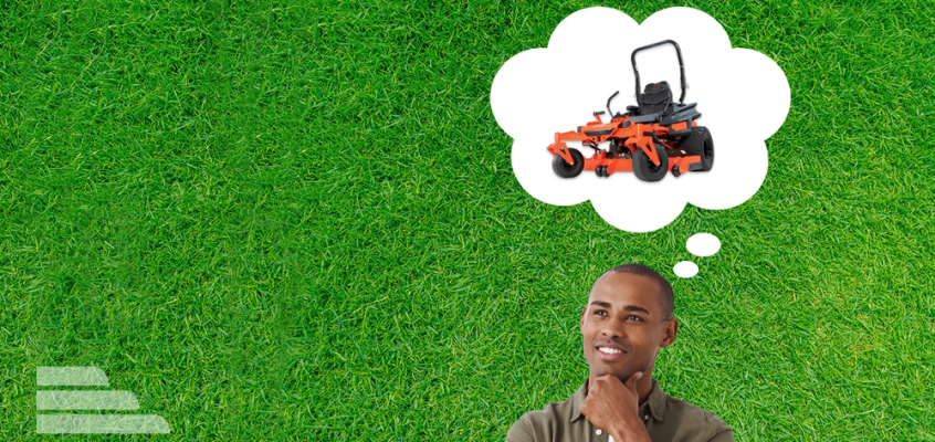 Guy thinking about a mower
