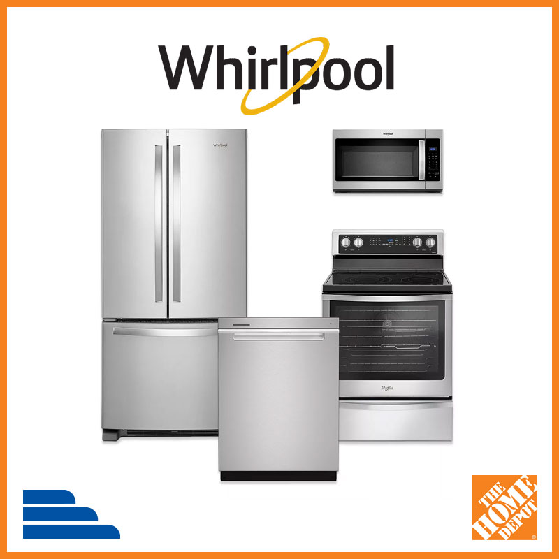 Whirlpool appliance suite at Home Depot